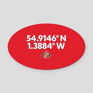 Sunderland Stadium Coordinates Ful Oval Car Magnet