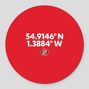 Sunderland Stadium Coordinates Fu Round Car Magnet