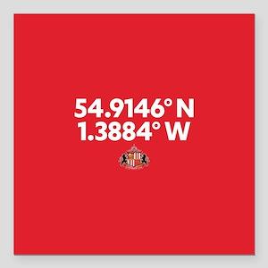 """Sunderland Stadium Coord Square Car Magnet 3"""" x 3"""""""