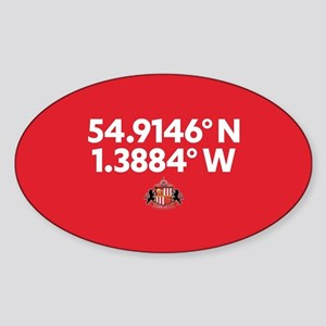 Sunderland Stadium Coordinates Full Sticker (Oval)