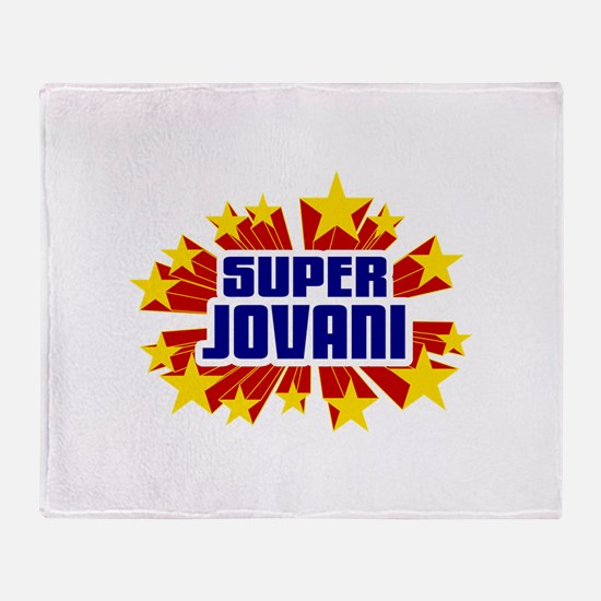 Jovani the Super Hero Throw Blanket