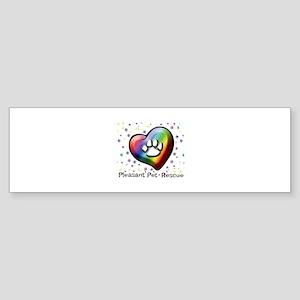 Paw prints on my heart Bumper Sticker