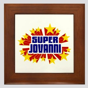 Jovanni the Super Hero Framed Tile