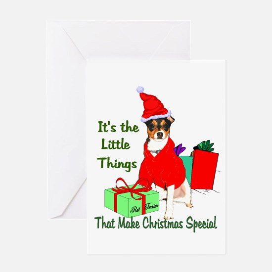 Rat Terrier Christmas Greeting Card