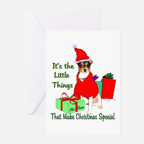 Rat Terrier Christmas Greeting Cards (Pk of 20)