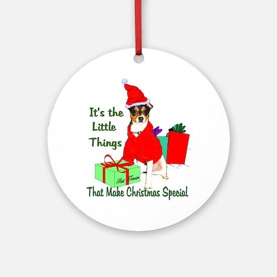 Rat Terrier Christmas Ornament (Round)