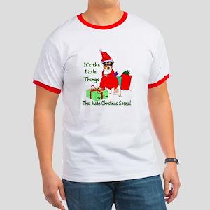 Rat Terrier Christmas Ringer T