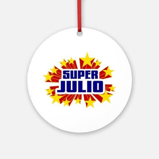 Julio the Super Hero Ornament (Round)