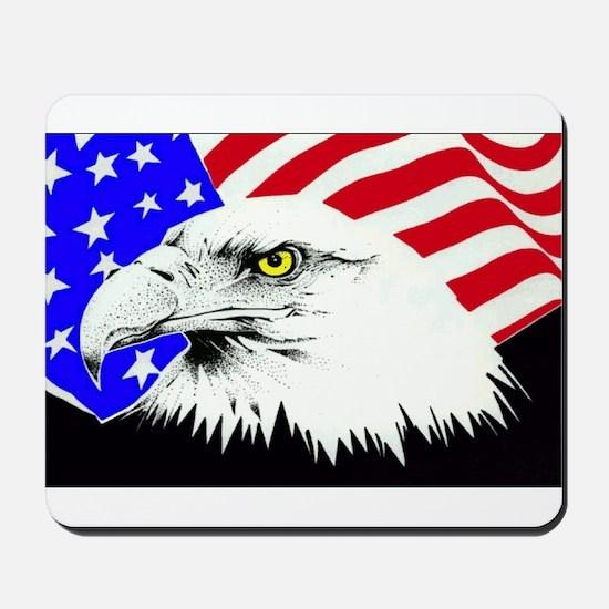 4th of july eagle_flag Mousepad