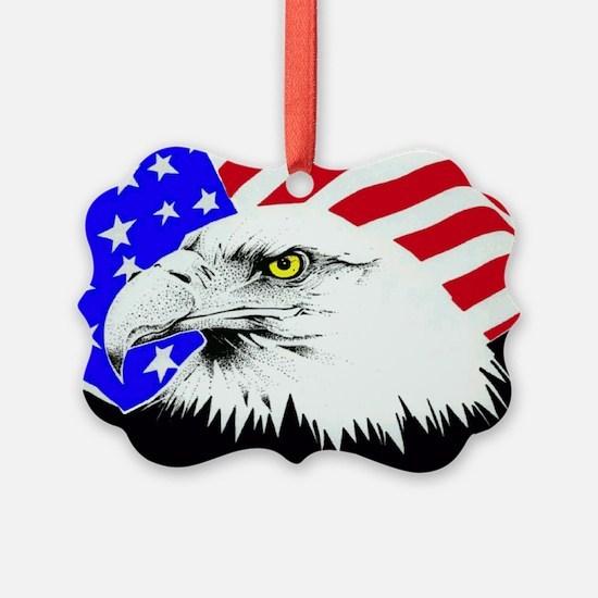 4th of july eagle_flag Ornament