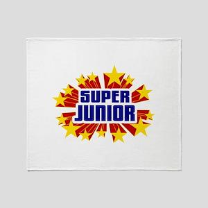 Junior the Super Hero Throw Blanket