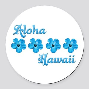 Aloha Hawaii Round Car Magnet