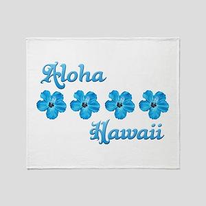 Aloha Hawaii Throw Blanket