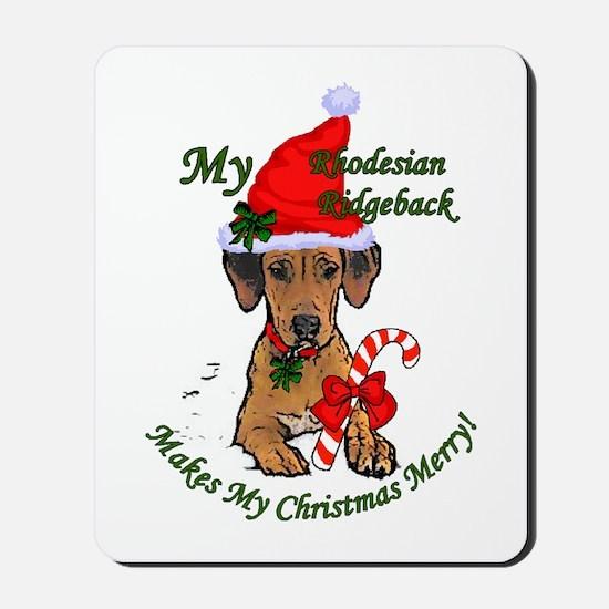 Rhodesian Ridgeback Christmas Mousepad