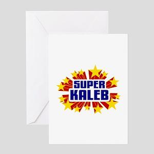 Kaleb the Super Hero Greeting Card