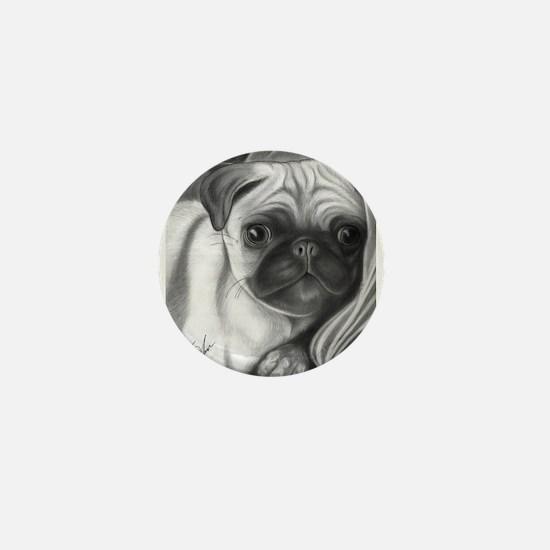 pug puppy Mini Button