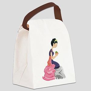 Frog Princess Canvas Lunch Bag