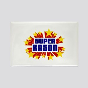 Kason the Super Hero Rectangle Magnet