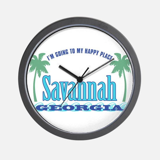 Savannah Happy Place - Wall Clock