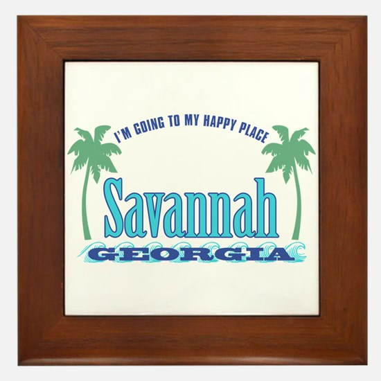 Savannah Happy Place - Framed Tile