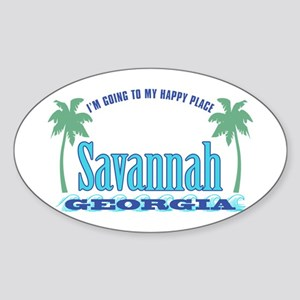 Savannah Happy Place - Sticker (Oval)