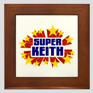 Keith the Super Hero Framed Tile
