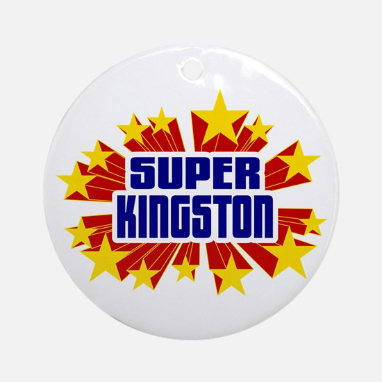Kingston the Super Hero Ornament (Round)