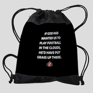 If God Wanted Us To Play Football F Drawstring Bag