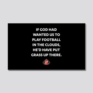 If God Wanted Us To Play Footba Car Magnet 20 x 12