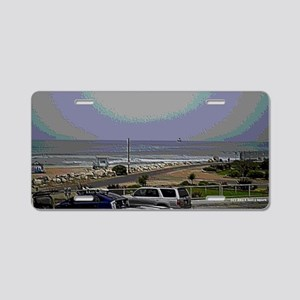 El Porto Beach Scene Aluminum License Plate