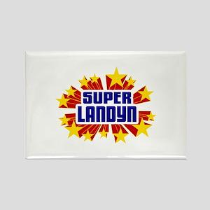 Landyn the Super Hero Rectangle Magnet
