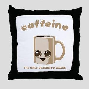Chibi Caffeine Throw Pillow