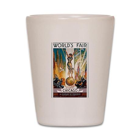 Vintage Chicago Worlds Fair B Shot Glass
