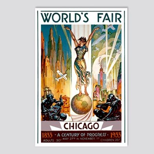 Vintage Chicago Worlds Fair B Postcards (Package o