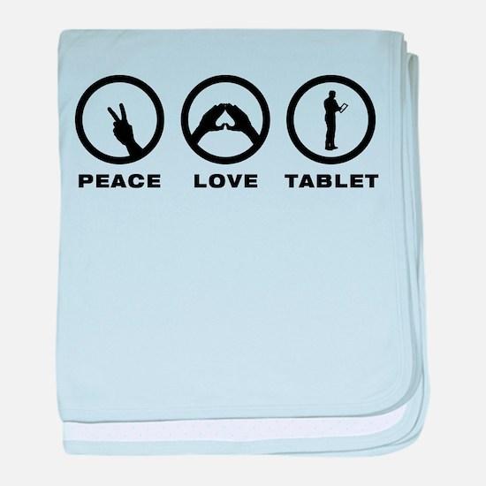 Tablet PC User baby blanket