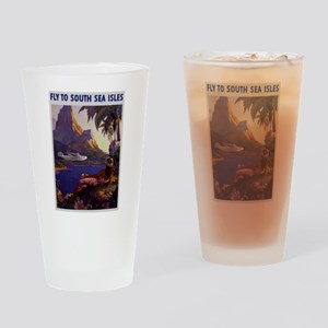 Vintage South Sea Isles Travel Drinking Glass