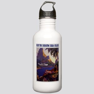 Vintage South Sea Isles Travel Water Bottle