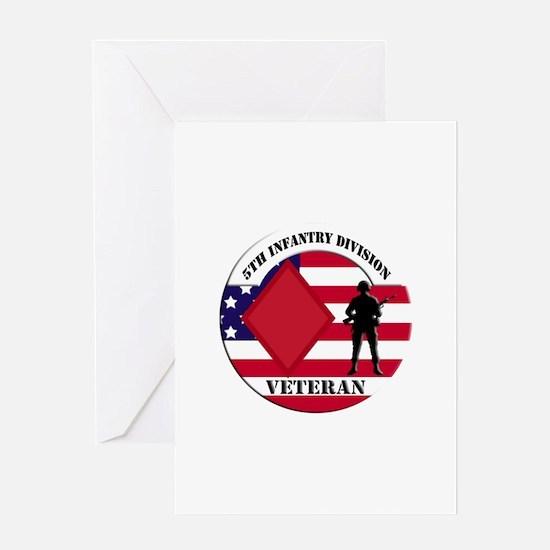 5th Infantry Division Veteran Greeting Card