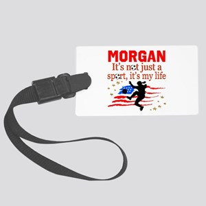 SOCCER GIRL Large Luggage Tag
