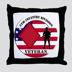 5th Infantry Division Throw Pillow