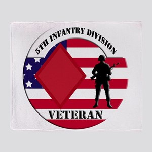 5th Infantry Division Throw Blanket