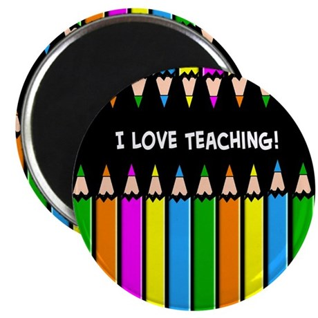 "i love teaching 2.25"" Magnet (100 pack)"