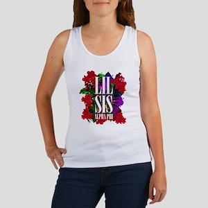 Alpha Phi Little Floral Women's Tank Top