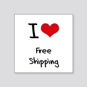 I Love Free Shipping Sticker