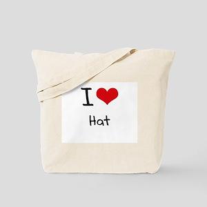 I Love Hat Tote Bag