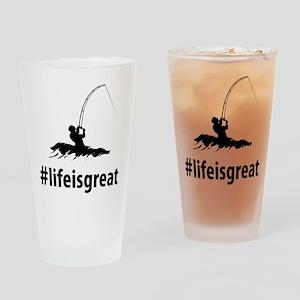 Surf Fishing Drinking Glass