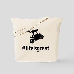 Stunt Rider Tote Bag