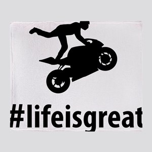 Stunt Rider Throw Blanket