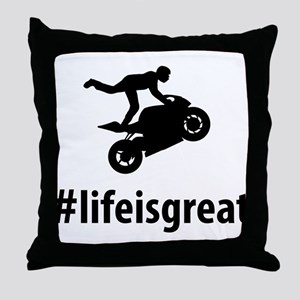 Stunt Rider Throw Pillow