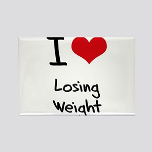 I Love Losing Weight Rectangle Magnet